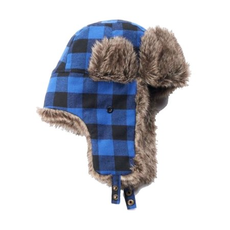 Urban Pipeline - Urban Pipeline Men Plaid Buffalo Trapper Hat One Size Blue  - Walmart.com 9b44e2b1a21