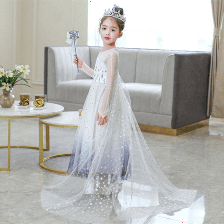 Girls Frozen 2 Elsa Princess Dress Up Costumes Halloween Christmas Fancy Party Dresses - image 4 of 7