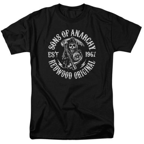 Sons Of Anarchy Redwood Originals Mens Short Sleeve Shirt Black 3X