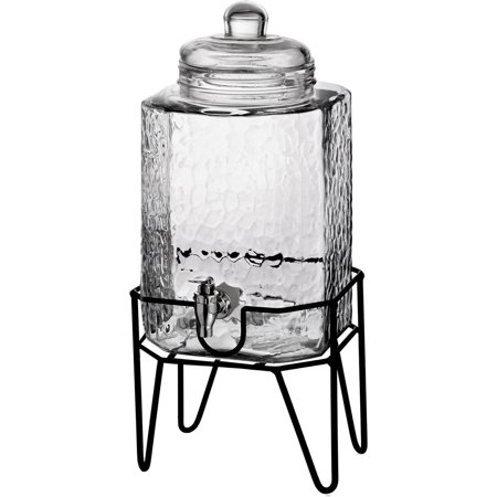 Hamburg 1.5 Gallon Beverage Dispenser & Stand