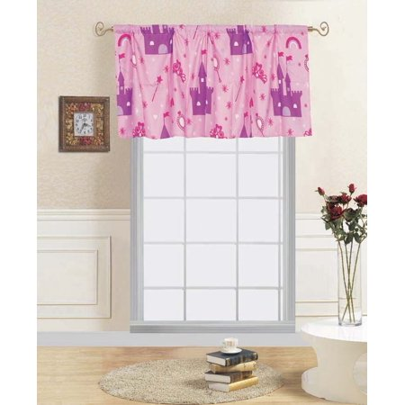 1-PC PRINCESS PALACE Kids Straight Rod Pocket Window Curtain Valance 55