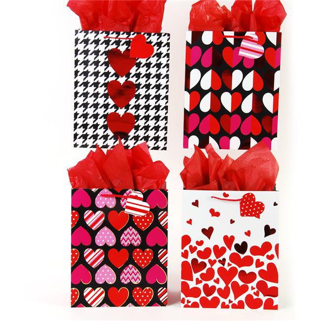 DDI 2130698 Valentine's Day Hot Hearts Love Bottle Gift Bag Case of 144
