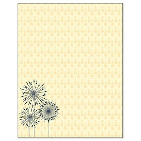 Modern Dandelion Design Stationery - 8.5 x 11-60 Letterhead Sheets - Contempary Letterhead (Modern) - B6503