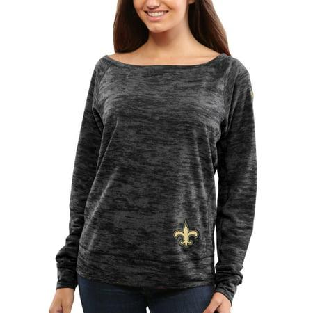- New Orleans Saints Nike Womens Warpspeed Epic Crew Sweatshirt - Black
