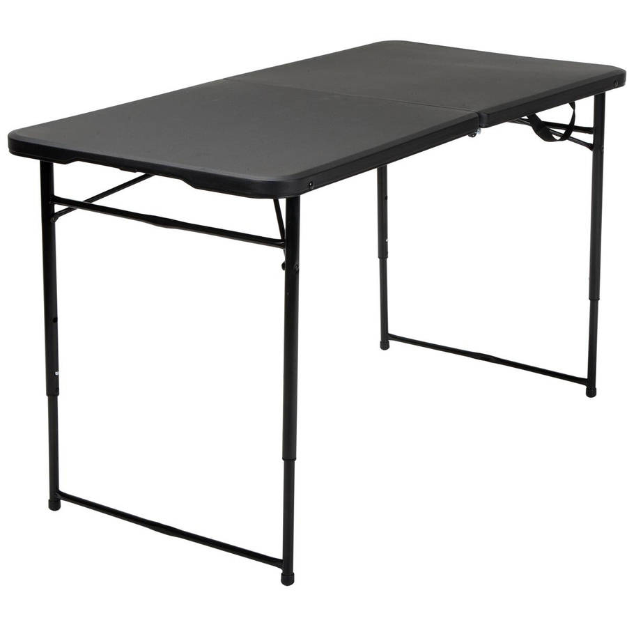 Cosco 4u0027 Indoor Outdoor Adjustable Height Centerfold Tailgate Table,  Multiple Colors