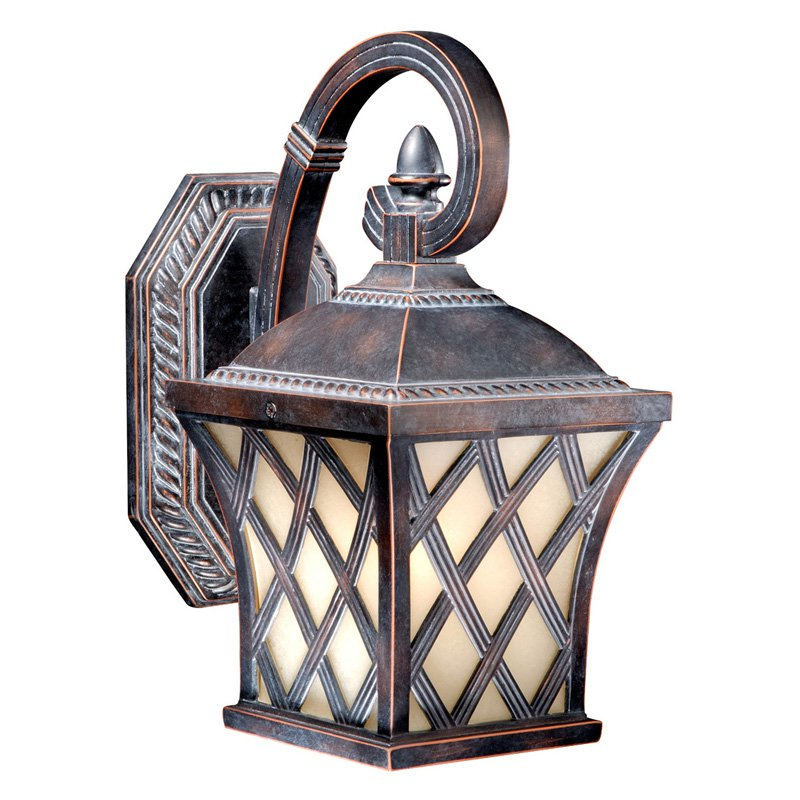 Vaxcel Yorkshire Outdoor Wall Light - 6W in. Coffee Patina