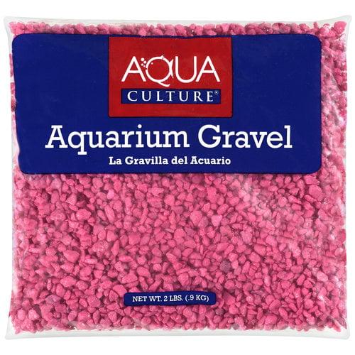 Aqua Culture Hot Pink Aquarium Gravel, 2 lb
