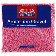 Aqua Culture Hot Pink Aquarium Gravel, 2 lb