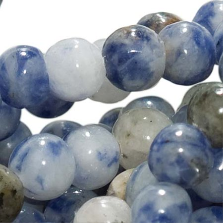 Blue Sodalite 4mm Round Beads / 15.5 Inch Strand (Lapis Color) - Lapis Blue Color