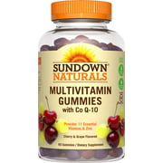 Sundown Naturals Active Adult Multivitamin with Co Q-10 Dietary Supplement Gluten-Free Gummies, 60 count