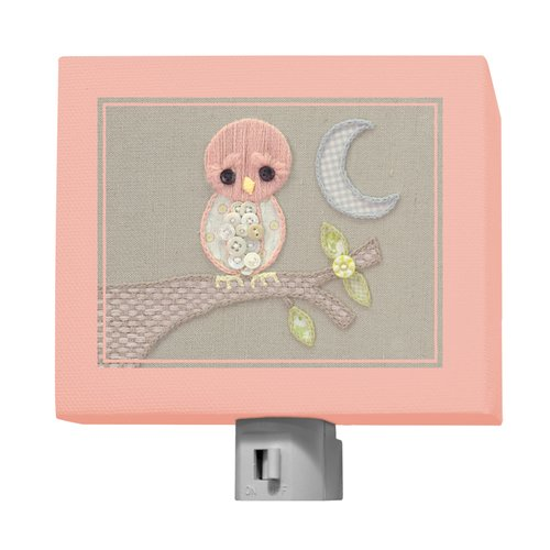 Oopsy Daisy Vintage Baby Owl by Kristen White Night Light