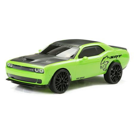 New Bright RC 1:12 Scale Remote Control Sports Car Challenger SRT 2.4GHz USB - Green