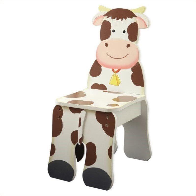 Fantasy Fields Happy Farm Cow Kids Desk Chair by Teamson