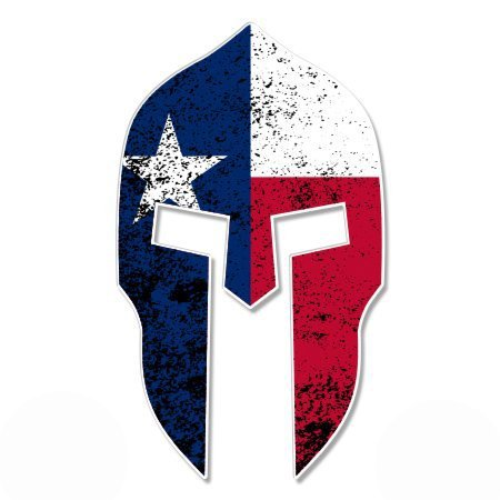 Spartan Helmet Texas Flag - Vinyl Sticker Waterproof Decal Sticker 5