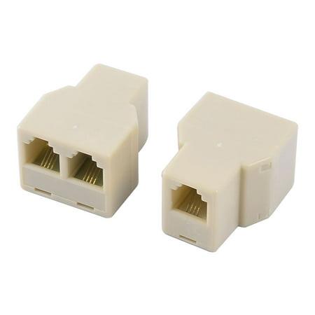 rj11 6p4c keystone 1 to 2 dual female port network cable. Black Bedroom Furniture Sets. Home Design Ideas