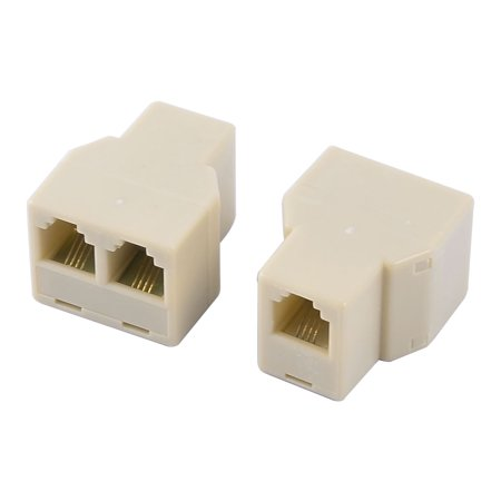 RJ11 6P4C Keystone 1 to 2 Dual Female Port Network Cable Ethernet Splitter