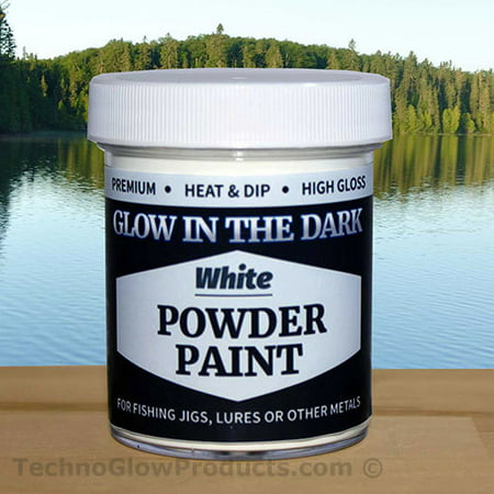 White Glow in the Dark Powder Paint for Jigs 2.5 oz.](Cheap Glow In The Dark Body Paint)