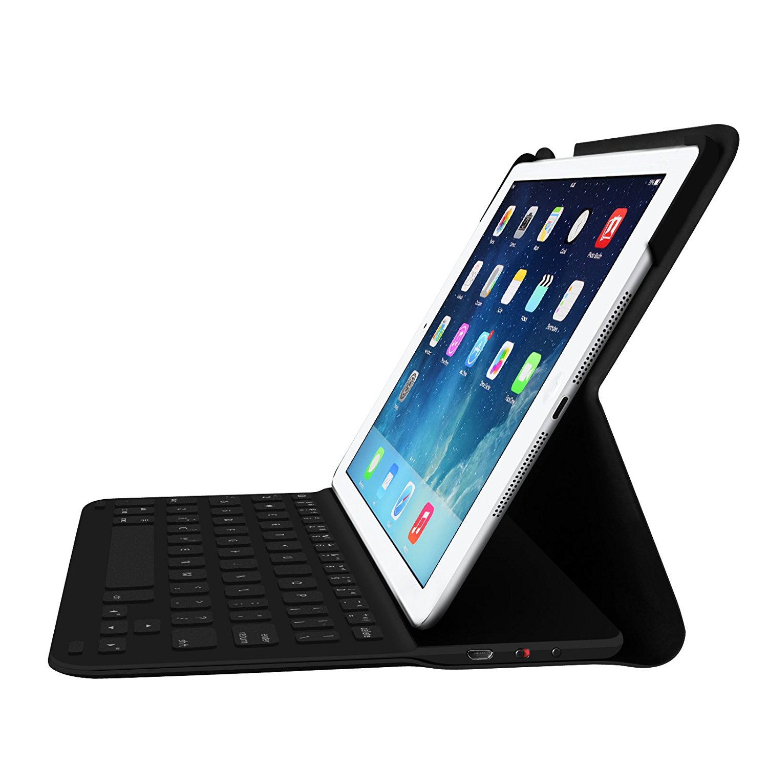 Fintie iPad Air (2013) Keyboard Case - Ultrathin Folio Cover with Built-in Bluetooth Keyboard for iPad Air (2013), Black