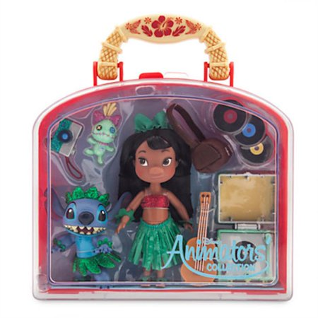 Disney Store Animators' Collection Lilo & Stitch Mini Doll Play Set 5'' New - Lilo Costume