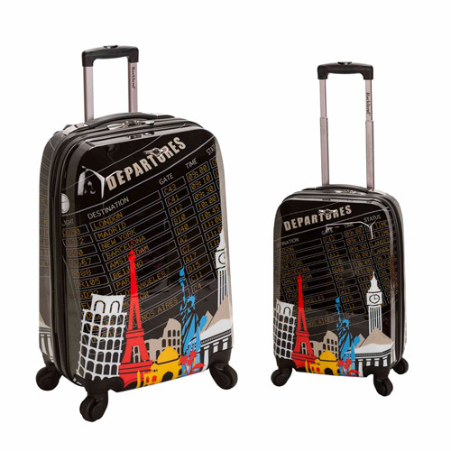 Rockland Luggage Traveler 2-Piece Polycarbonate Set