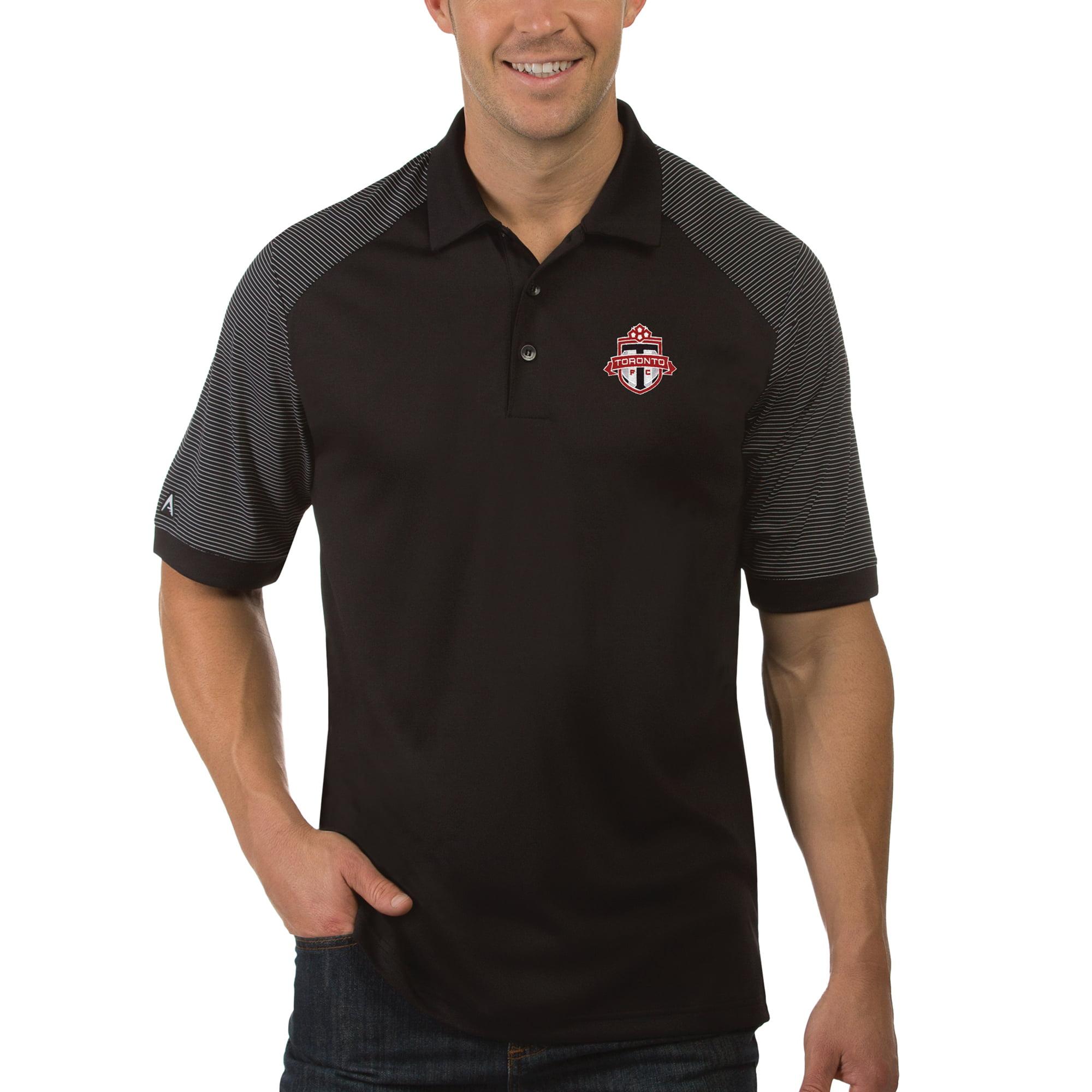 Toronto FC Antigua Desert Dry Engage Polo - Black/White