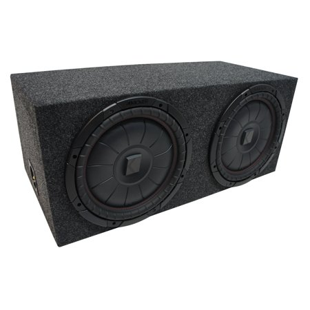 Universal Car Stereo Rearfire Sealed Dual 10 Kicker CompVT CVT10 Sub Box 2