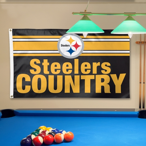 Pittsburgh Steelers WinCraft 3' x 5' Steelers Country Deluxe Flag - No Size