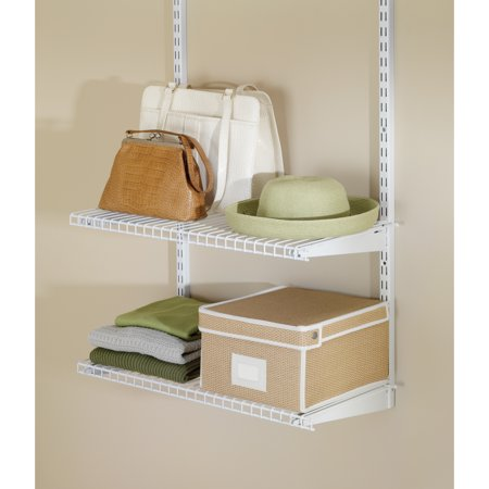 Rubbermaid Commercial Products 3 Shelf - Rubbermaid FG3H9103WHT Configurations Closet Shelf Kit White
