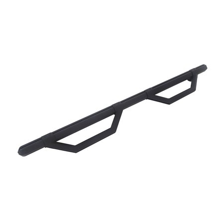 Dee Zee DZ66321TB Nerf Bar HEX Series With Drop Down Steps; Hexagonal Straight; Textured Powder Coated; Black; Aluminum; With Welded End Caps; Requires Mounting Bracket; Mulit Fit 86 Inch Length - image 2 de 2