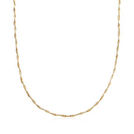 Ross-Simons Italian 14kt Yellow Gold Twisted Mesh Necklace Chain