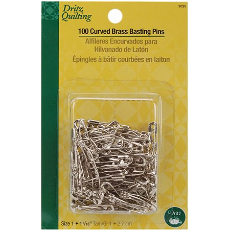 Dritz Quilting Basting Pins - Dritz Quilting Curved Brass Basting Pins