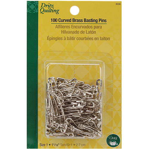Dritz Quilting Curved Brass Basting Pins