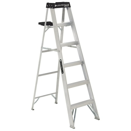 Louisville Ladder 6-Foot Aluminum Stepladder, 250-Pound Capacity, Type I, W-2112-06S