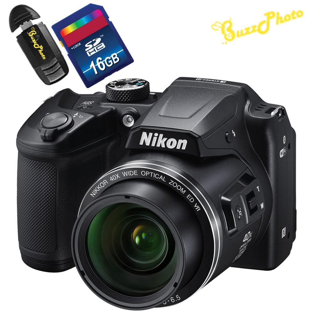 Nikon COOLPIX B500 Digital Camera with Free BuzzPhoto Accessories