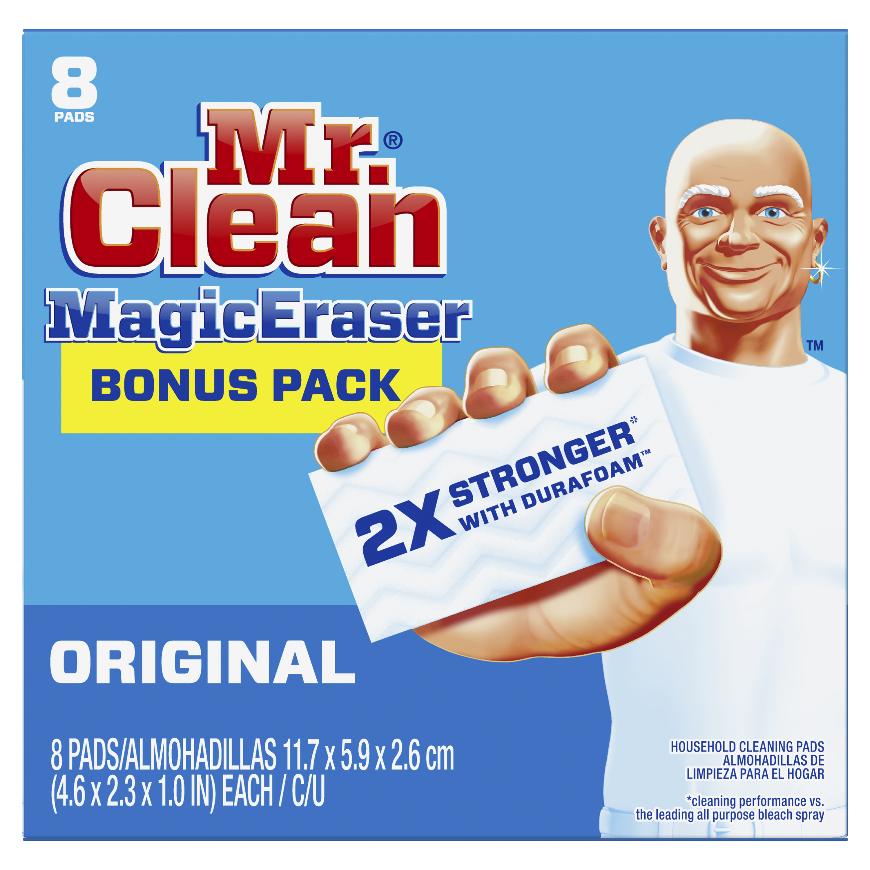 Mr. Clean Magic Eraser Original, Cleaning Pads with Durafoam, 8 count