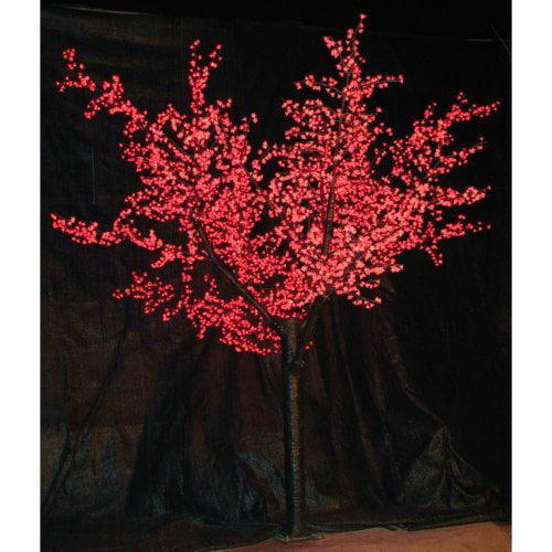 12 ft. Pre-lit LED Cherry Blossom Tree - Red