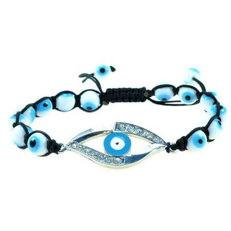 Sky Blue Evil Eye Handmade String Adjustable Bracelet - Good for Protection - 91091 Sky Blue Bracelets