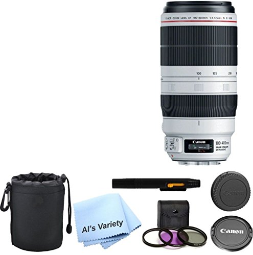 Canon EF 100-400mm f/4.5-5.6L IS II USM Lens AL'S VARIETY Premium Lens Kit + 5pc Bundle