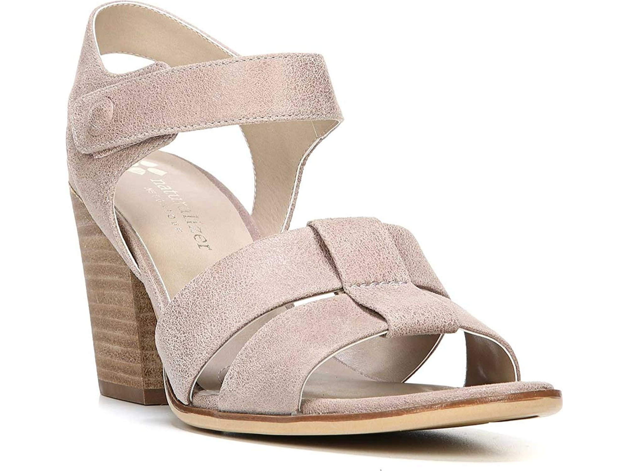 3a5562149238 Naturalizer - Naturalizer Womens Yolanda Leather Open Toe Casual Ankle  Strap Sandals - Walmart.com