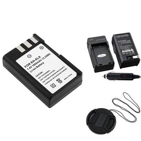 Nikon D40 Body - Insten EN-EL9 Battery+Charger For Nikon Digital D40 D60+Cap