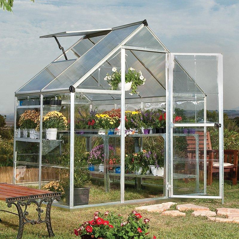 Hybrid Greenhouse, 6' x 14', Silver by Palram