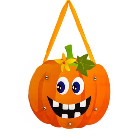 Halloween Smiley Symbols ( Halloween Candy Gift Bag Classic Smile Pumpkin Handheld Bags Candy Bags Halloween Decoration Ornament Props Children Gift)
