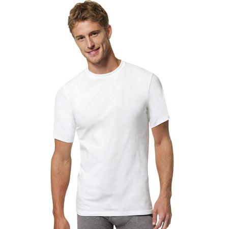 Comfortblend Crewneck - Hanes Mens FreshIQ ComfortBlend 4-Pack Tall Crewnecks, XLT, White
