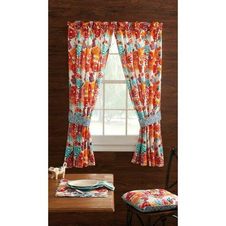 "The Pioneer Woman Flea Market Window Curtain Panel, 40""W x 54""L , Set of 2"