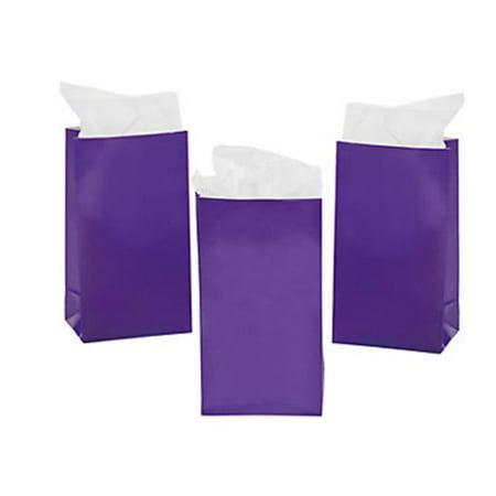 MINI PURPLE PAPER TREAT BAGS (2 DOZEN) - BULK - Wedding Treats
