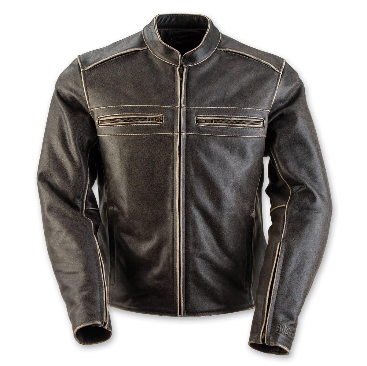 Black Brand Vintage Rebel Womens Leather Jacket Black