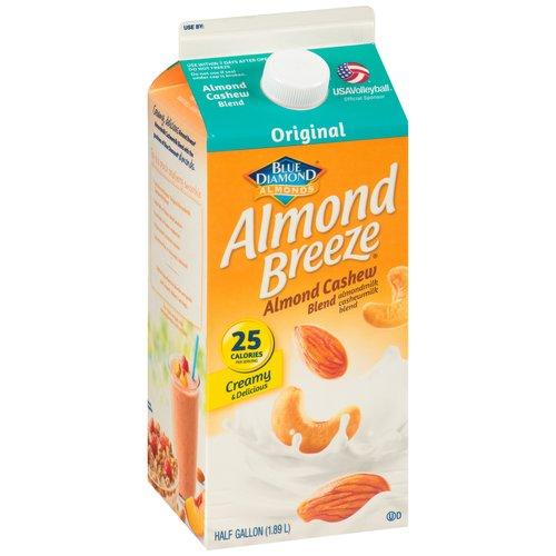 Almond Breeze Original Almond Cashew Blend Milk, Half Gallon