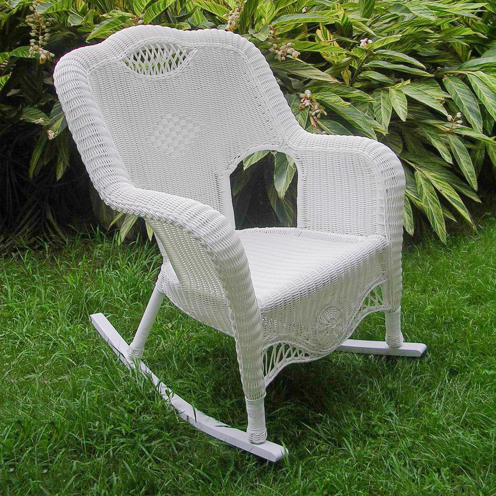 International Caravan Maui Resin Wicker Outdoor Rocking Chair by Atlantic Outdoor
