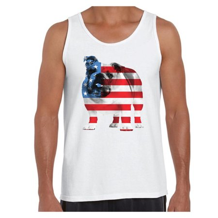 4f41807decb81 Awkward Styles American Flag Tank Tops Bulldog American Patriotic Tank Top  for Men USA Flag Tanks 4th Of July Gifts for Dog Owners Bulldog Lover Tops  Red ...