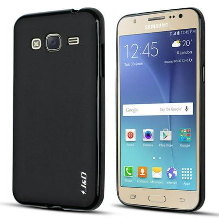 Galaxy J3 Case, J&D [Drop Protection] Samsung Galaxy J3 Case [Slim Cushion] Shock Resistant Protective Premium Jelly Case Slim Case for Samsung Galaxy J3 (Black) (2016 Released Newest